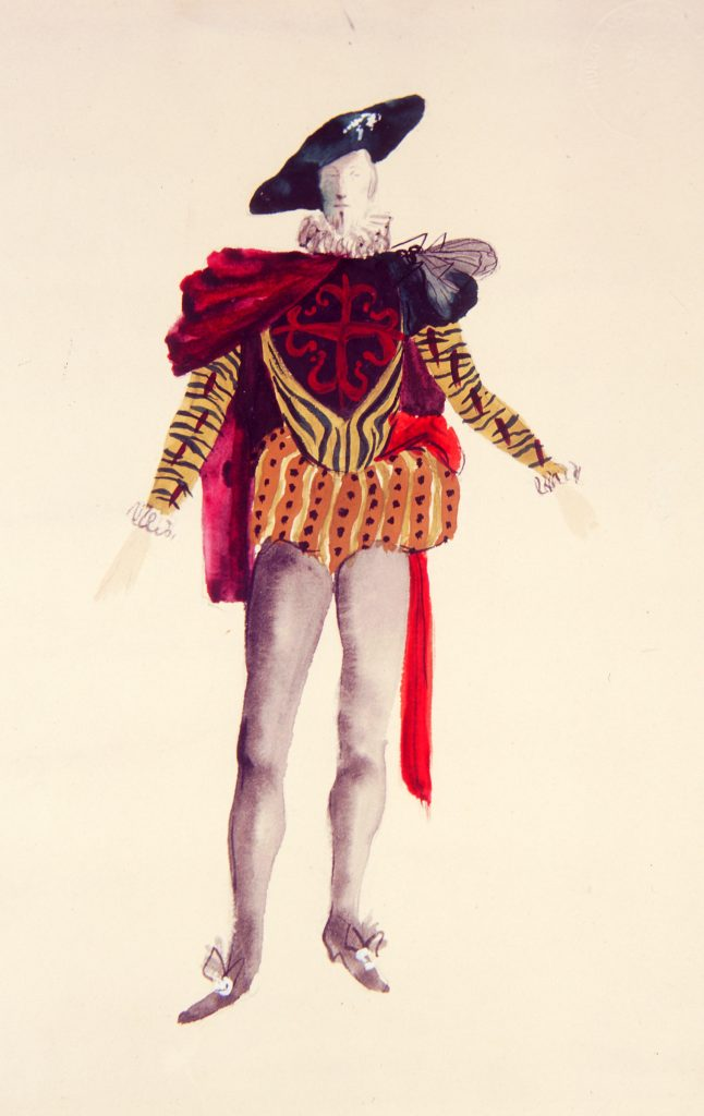 Salvador Dalí. Figurín para Don Juan Tenorio. 1964