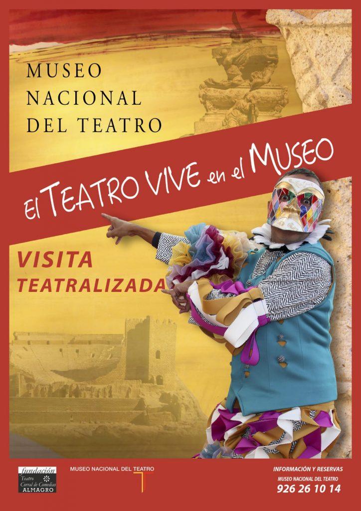Cartel Visitas Teatralizadas al Museo del Teatro de Almagro