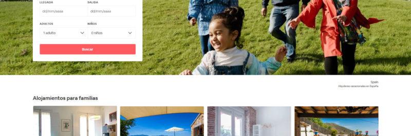 colección de alojamientos para familias de Airbnb