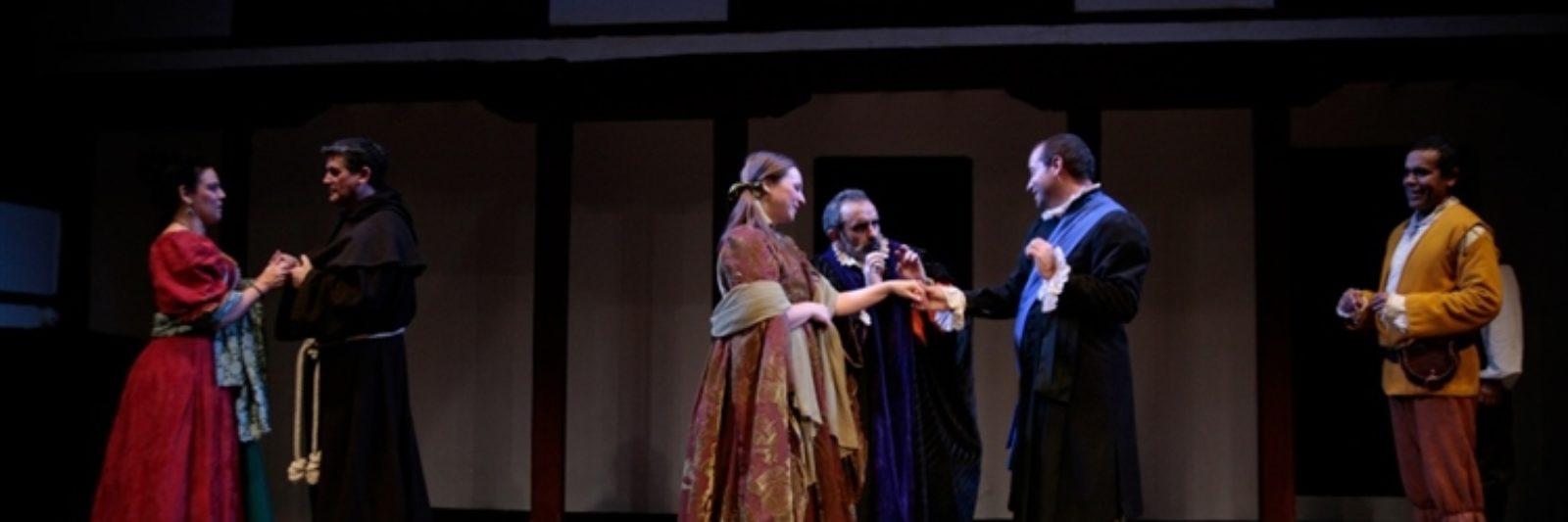 Representación de teatro en el Corral de Comedias