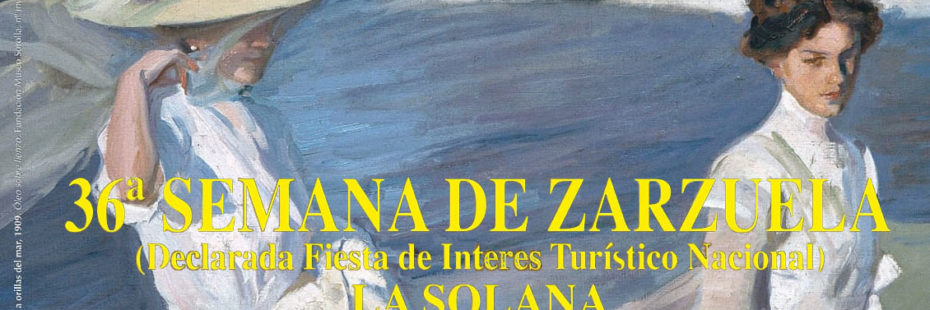 Cartel 36ª Semana de la Zarzuela en La Solana