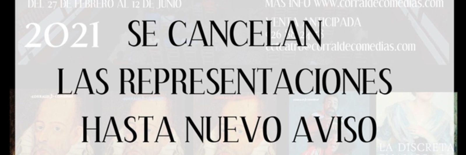 Cancelación funciones Corral de Comedias