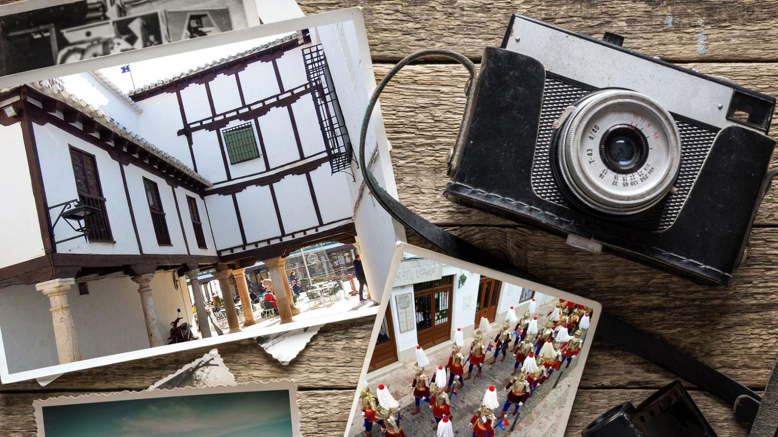 Cámara antigua y fotos de Almagro