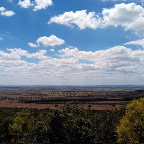 Vistas desde el Santuario de la Virgen de la Sierra, en Villarrubia de los Ojos