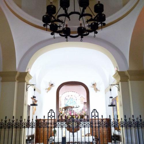 Interior del Santuario de la Virgen de la Sierra, en Villarrubia de los Ojos